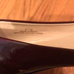 Talbots Shoes - TALBOTS Burgundy Patent Leather Flats 9B
